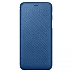 Galaxy A6+ nyitható tok, kék