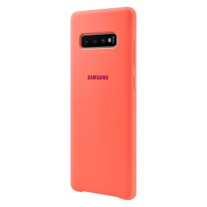 Galaxy S10+ szilikon hátlap, rózsaszín