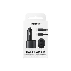 2-portos autós szupergyorstöltő (45W+15W), fekete