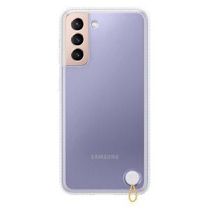 Galaxy S21 átlátszó védőtok, fehér